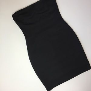 Ali Ro Strapless bandage party dress black